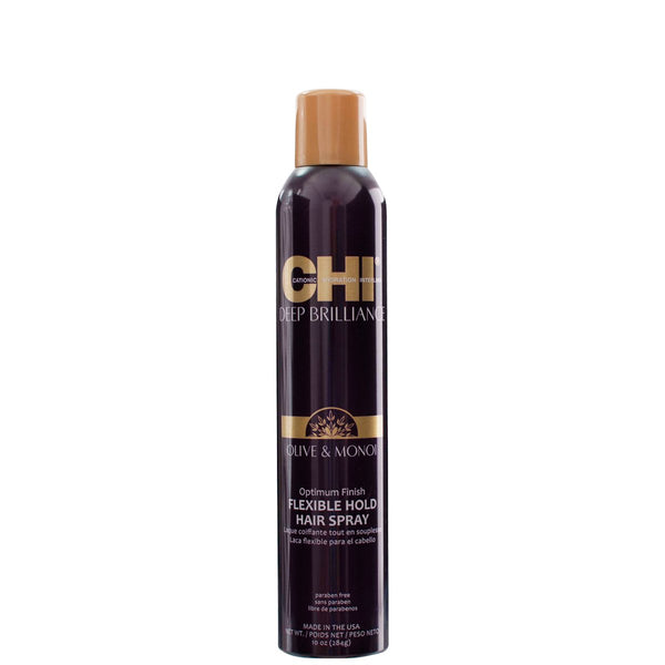 CHI Deep Brilliance Olive & Monoi Finish Flexible Hold Spray 10 OZ