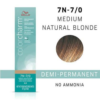 Wella Color Charm Demi-Permanent Hair Color - 7N - 7/0 Medium Natural Blonde 2 OZ