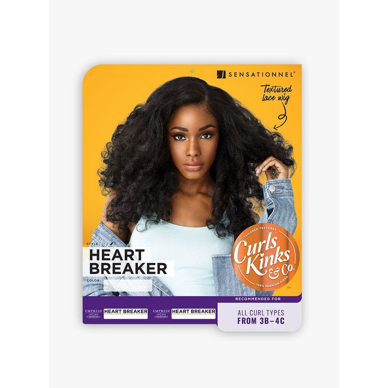 Sensationnel Empress Curls Kinks & Co. Synthetic Lace Front Edge Wig - Heart Breaker