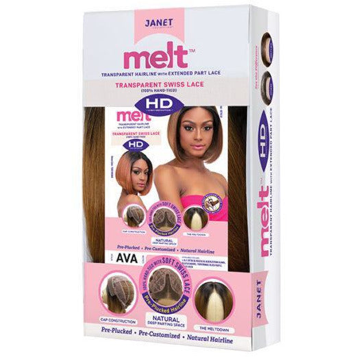 Janet Collection Melt Extended Part Synthetic Lace Front Wig - Ava