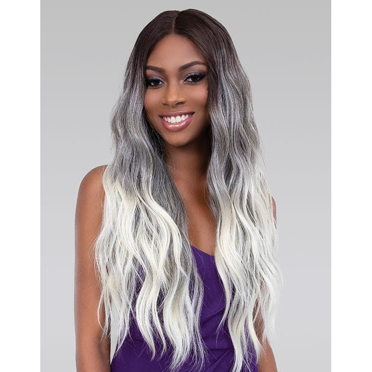 Janet Collection Melt Extended Part Synthetic Lace Front Wig - Bri