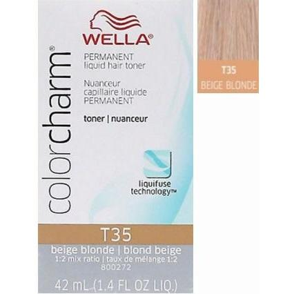 Wella Color Charm Permanent Liquid Toner - T35 Beige Blonde 1.4 OZ