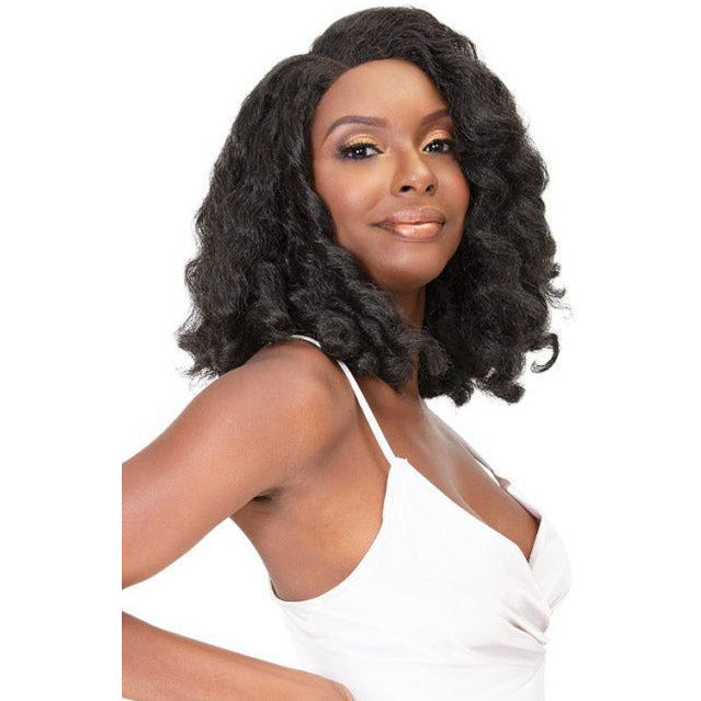Janet Collection Natural Me Human Hair Blend Swiss Lace Front Wig - Amani