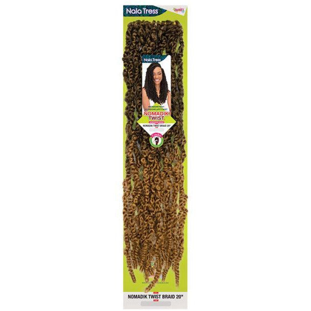 Janet Collection Nala Tress Synthetic Crochet Braids - Nomadik Twist Braid 20""