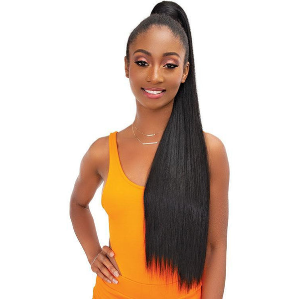 Janet Collection Essentials Snatch & Wrap Ponytail - Yaky Straight 24""