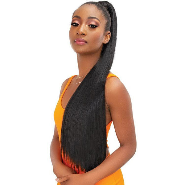 Janet Collection Essentials Snatch & Wrap Ponytail - Yaky Straight 32""