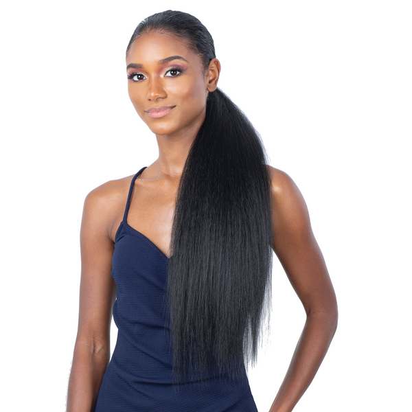 Shake-N-Go Organique MasterMix Wrap-Around Synthetic Ponytail – Natural Yaky 24""