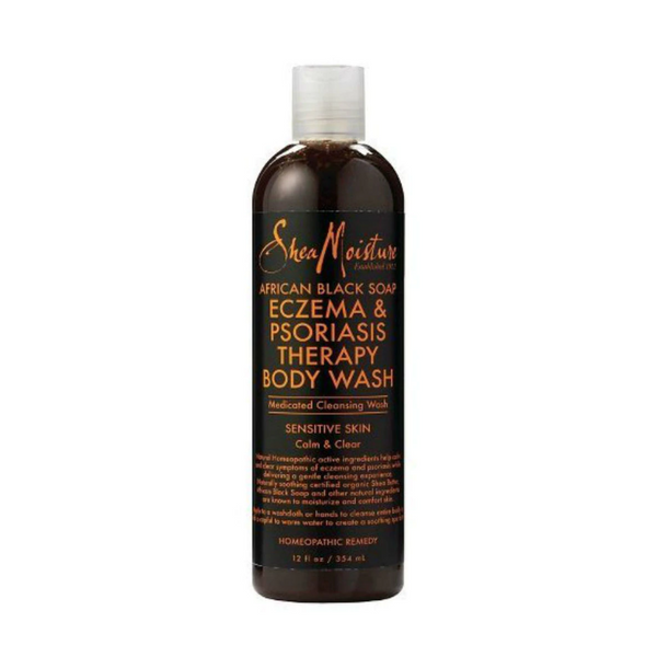 Sheamoisture African Black Soap Eczema & Psoriasis Therapy Body Wash 12 OZ