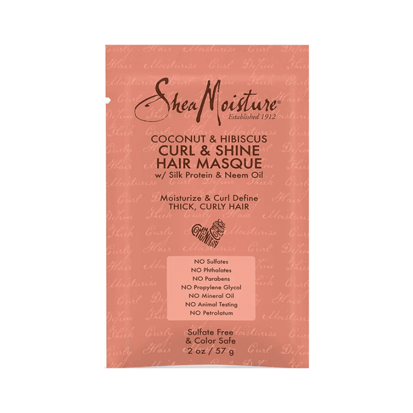 Sheamoisture Coconut & Hibiscus Curl & Shine Hair Masque 2 OZ