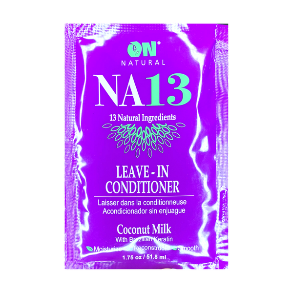 Organic Natural NA13 Leave In-Conditioner Coconut Milk with Brazilian Keratin 1.75 OZ