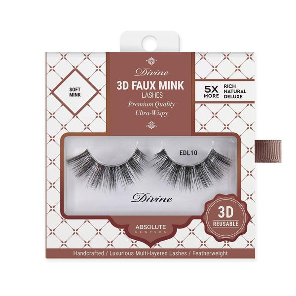 Absolute New York Divine 3D Faux Mink Lashes – EDL10 Hemera