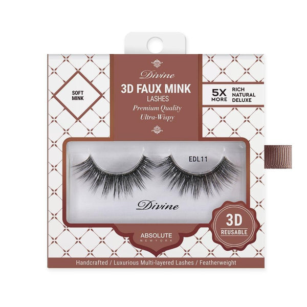 Absolute New York Divine 3D Faux Mink Lashes – EDL11 Tyche