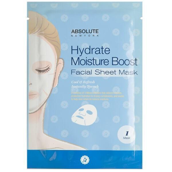 Absolute New York Hydrate Moisture Boost Facial Sheet Mask