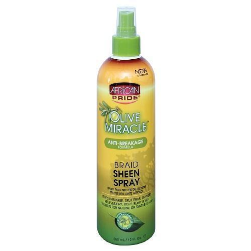 African Pride Olive Miracle Braid Sheen Spray 12 OZ