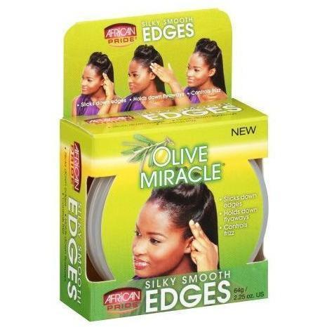 African Pride Olive Miracle Silky Smooth Edges 2.25 OZ