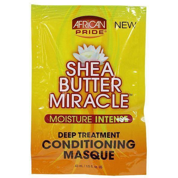 African Pride Shea Butter Miracle Deep Treatment Conditioning Masque 1.5 OZ