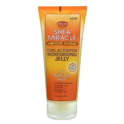 African Pride Shea Miracle Curl Activator Moisturizing Jelly 6 OZ