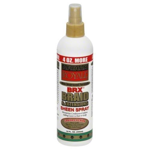 African Royale BRX Braid & Extensions Sheen Spray 12 OZ