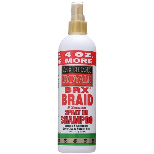 African Royale BRX Braid & Extensions Spray On Shampoo 12 OZ