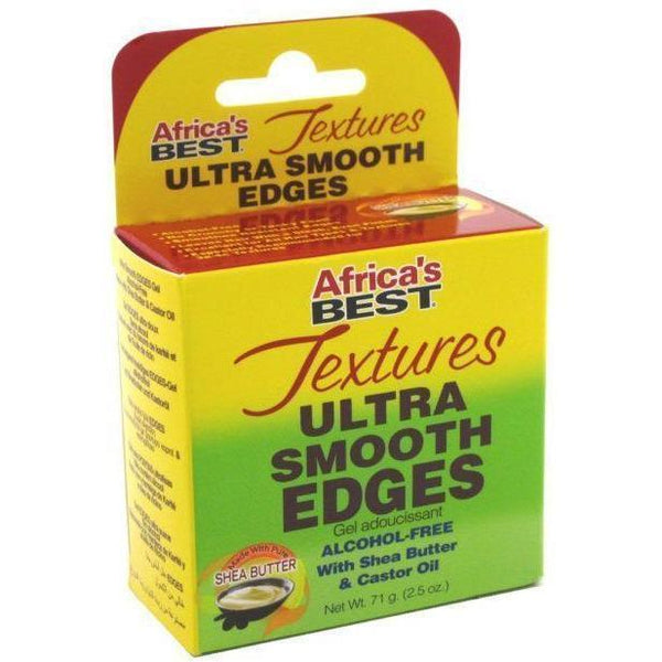 Africa's Best Textures Ultra Smooth Edges Gel With Shea Butter & Castor Oil 2.5 OZ
