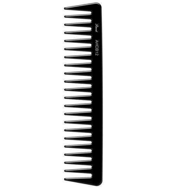 "Absolute New York Pinccat 7.5"" Detangling Extra Wide Tooth Carbon Comb"
