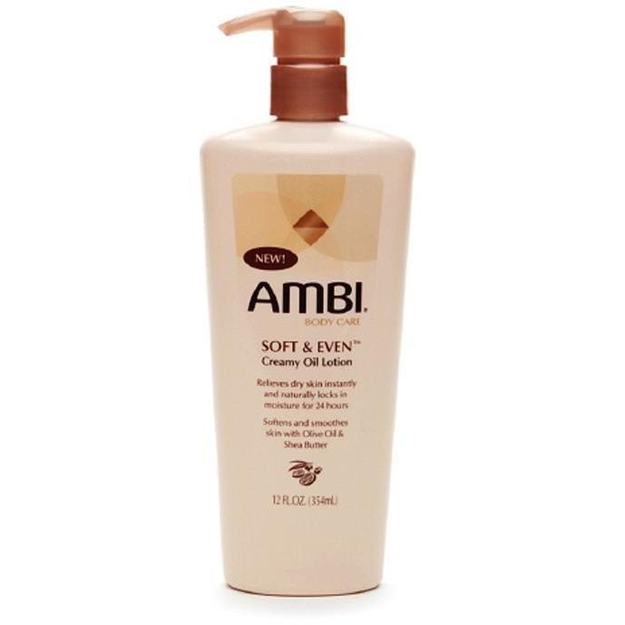 Ambi Soft & Even Creamy Oil Lotion 12 OZ