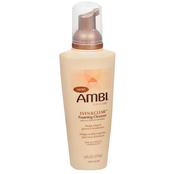 Ambi Even & Clear Foaming Cleanser 6 OZ