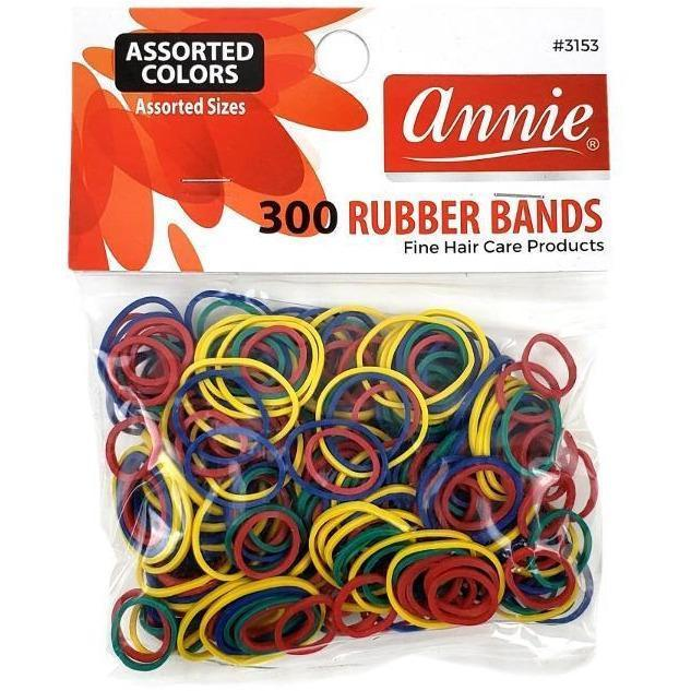 Annie Assorted Colors Rubber Bands 300 PC