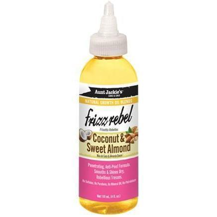 Aunt Jackie's Natural Growth Oil Blends With Coconut & Sweet Almond – Frizz Rebel 4 OZ
