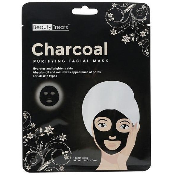 Beauty Treats Charcoal Purifying Facial Mask 1 OZ