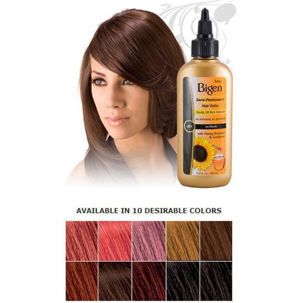Bigen Semi-Permanent Hair Color – Jet Black JB1 3.0 OZ