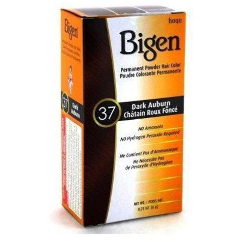 Bigen Permanent Powder Hair Color – Dark Auburn #37 0.21 OZ