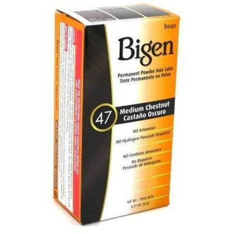 Bigen Permanent Powder Hair Color – Med Chestnut #47 0.21 OZ