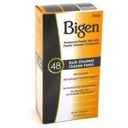 Bigen Permanent Powder Hair Color – Dark Chestnut #48 0.21 OZ