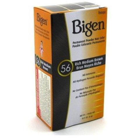 Bigen Permanent Powder Hair Color – Rich Med Brown #56  0.21 OZ