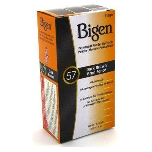 Bigen Permanent Powder Hair Color – Dark Brown #57 0.21 OZ
