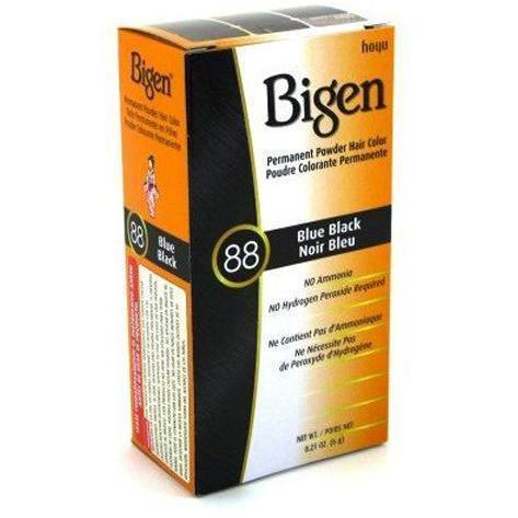 Bigen Permanent Powder Hair Color – Blue Black #88 0.21 OZ