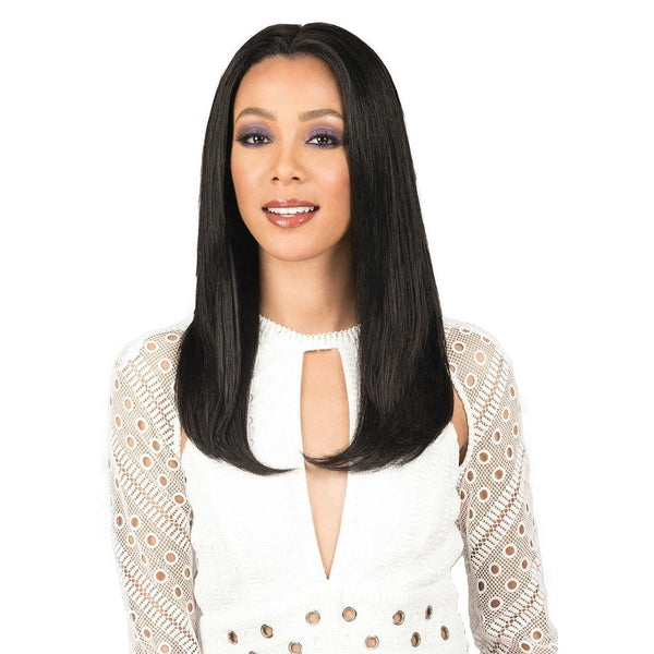 Bobbi Boss Indi Remi Designer 100% Virgin Remy Human Hair Swiss Lace Front Wig – Natural Straight 20""