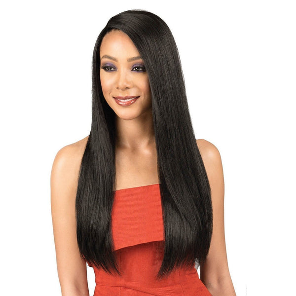 Bobbi Boss Indi Remi Designer 100% Virgin Remy Human Hair Swiss Lace Front Wig – Natural Straight 26""