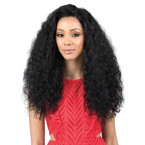 Bobbi Boss Indi Remi Designer 100% Virgin Remy Human Hair Swiss Lace Front Wig – Natural Wave 26""