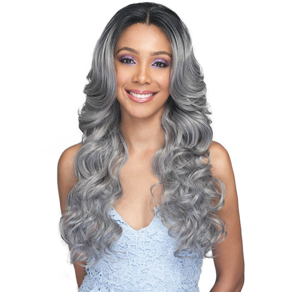 Bobbi Boss Deep Free Parting Human Hair Blend 360° Swiss Lace Front Wig – MBLF-340 Kiliah