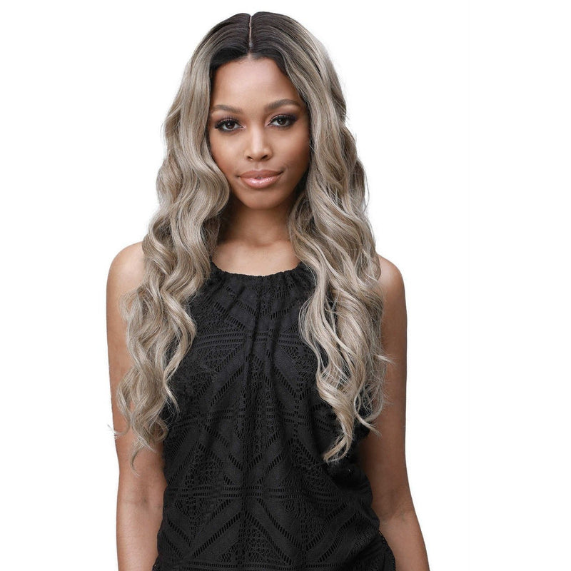 Bobbi Boss Extreme Part Human Hair Blend Lace Front Wig – MBLF-230 Sana