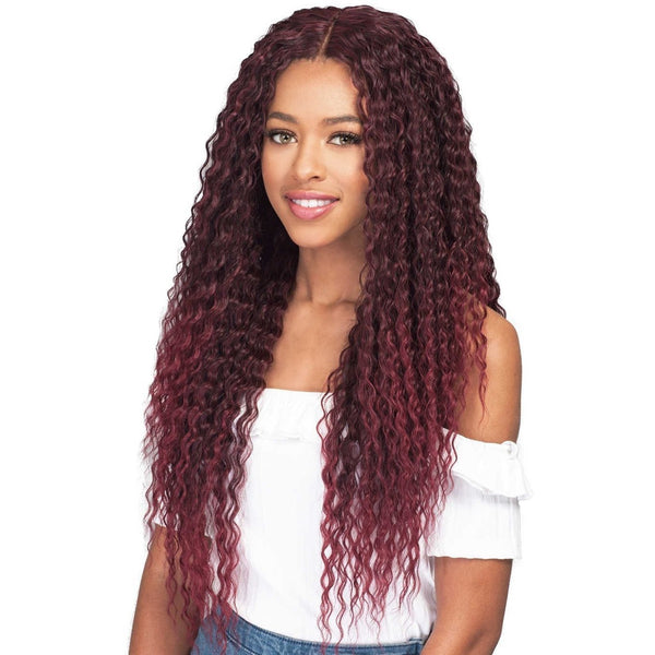 Bobbi Boss Human Hair Blend Miss Origin One Pack Solution Weave – Natural Brazilian Wave