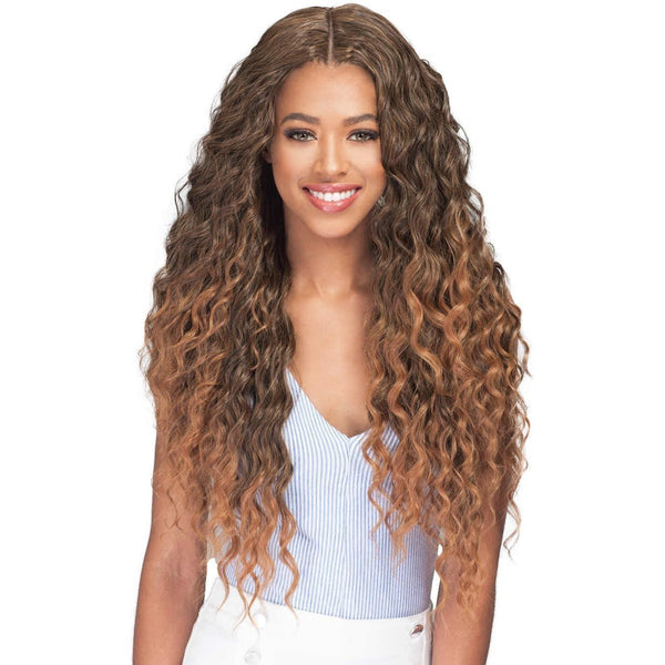 Bobbi Boss Human Hair Blend Miss Origin One Pack Solution Weave – Natural Ocean Wave
