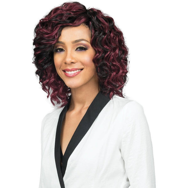 Bobbi Boss Miss Origin Short Style Human Hair Blend Weave – Ocean Wave