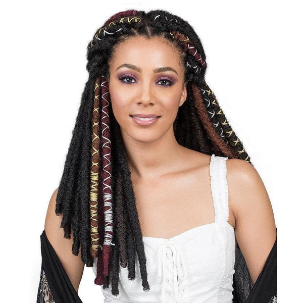 Bobbi Boss Synthetic Braids – Bae Locs Silver 20""