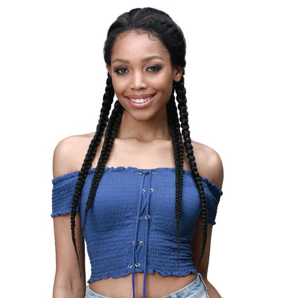 Bobbi Boss Insta-Braid Braided Synthetic Lace Front Wig – MLF513 Alicia