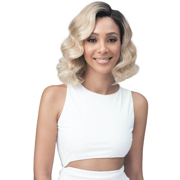 Bobbi Boss Premium Synthetic Swiss Lace Front Wig – MLF-345 Cait