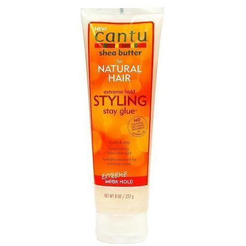 Cantu Shea Butter for Natural Hair Extreme Hold Styling Stay Glue 8 OZ