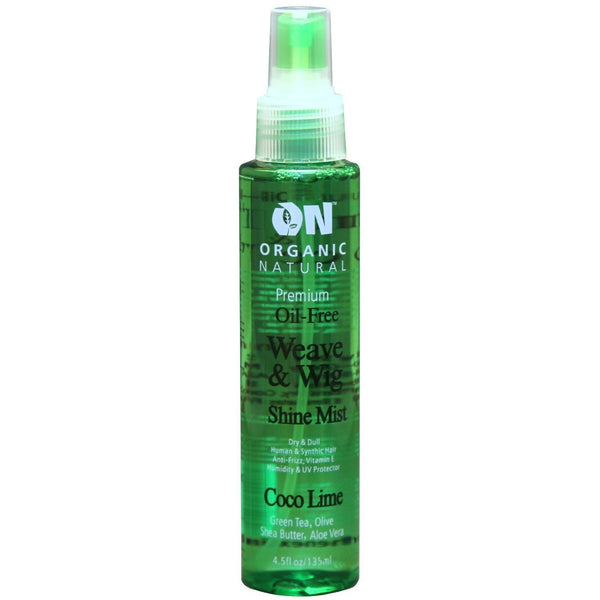 Organic Natural Oil-Free Weave & Wig Shine Mist Coco Lime 4.5 OZ